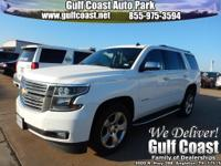 Tahoe LTZ, White Diamond Clearcoat, and Navigation