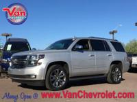 Clean CARFAX. Silver Ice Metallic 2015 Chevrolet Tahoe