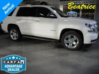 Recent Arrival! Clean CARFAX. Tahoe LTZ, 4WD, Power