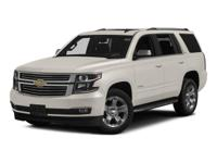 4WD and 2015 Chevrolet Tahoe LTZ in Black. Navigation!