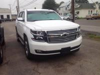 2015 Chevrolet Tahoe LTZ In Summit White. 4WD and