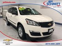 New Price! Certified. 2015 White Chevrolet Traverse FWD