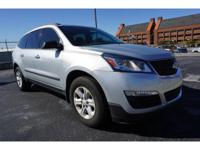 Clean CARFAX. Silver 2015 Chevrolet Traverse LS FWD