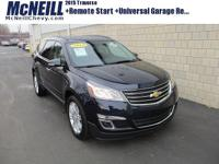 This 2015 Chevrolet Traverse LT in Blue Velvet Metallic