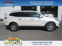 This 2015 Chevrolet Traverse LT in White is well