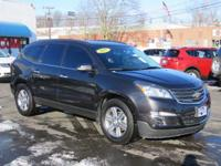CLEAN CARFAX. Traverse LT 1LT, AWD, Tungsten Metallic,