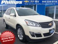 2015 Chevrolet Traverse LT 1LT White Diamond Tricoat