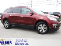 Recent Arrival! Maroon Chevrolet Traverse  Odometer is
