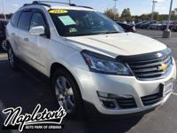 Recent Arrival! 2015 Chevrolet Traverse in White, AUX