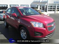 Options:  2015 Chevrolet Trax Ls|Ruby Red Metallic|Jet