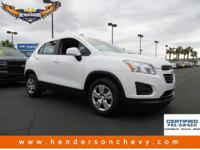 Check out this certified 2015 Chevrolet Trax LS. Its