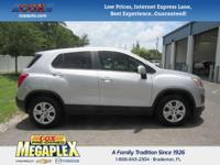 This 2015 Chevrolet Trax LS in Silver Ice Metallic is