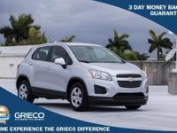 Clean CARFAX. 2015 Chevrolet Trax LS Silver Ice