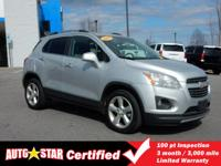 How enticing is this fantastic 2015 Chevrolet Trax LTZ?