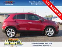 This 2015 Chevrolet Trax LTZ in Ruby Red Metallic is