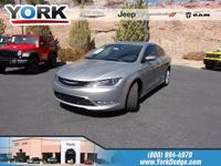 CARFAX One-Owner. Clean CARFAX. Gray 2015 Chrysler 200