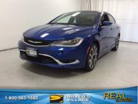 Vivid Blue 2015 Chrysler 200 C FWD 9-Speed 948TE