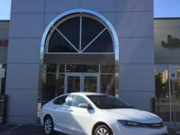 New Price! Bright White Clearcoat 2015 Chrysler 200 C