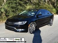 Black 2015 Chrysler 200 C FWD 9-Speed 948TE Automatic