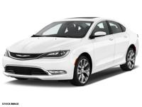Recent Arrival! 2015 Chrysler 200 C CARFAX One-Owner.