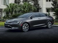 2015 Chrysler 200 C in Black custom features include.
