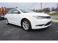CARFAX One-Owner. White 2015 Chrysler 200 Limited FWD