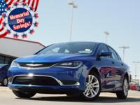 2015 Chrysler 200 Vivid Blue Pearlcoat 9-Speed 948TE