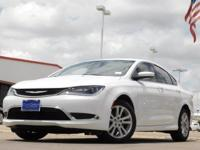 2015 Chrysler 200 Bright White Clearcoat 9-Speed 948TE