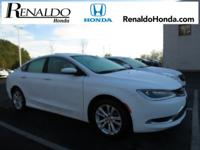 2015 Chrysler 200 Limited White Cloth.  36/23