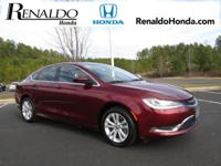 2015 Chrysler 200 Limited Red Cloth.  36/23