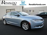 2015 Chrysler 200 Limited Cloth.  CARFAX One-Owner.