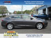 This 2015 Chrysler 200 Limited in Granite is well