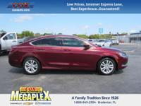 This 2015 Chrysler 200 Limited in Velvet Red Pearlcoat