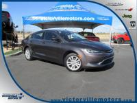Gray 2015 Chrysler 200 Limited FWD 9-Speed 948TE