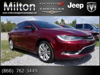 Options:  2015 Chrysler 200 Limited|Discerning Drivers