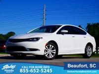 2015 Chrysler 200 Limited in White. Why pay more for