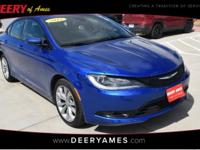 New Price! Certified. Blue 2015 Chrysler 200 S FWD