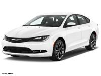 Recent Arrival! 2015 Chrysler 200 S CARFAX One-Owner.