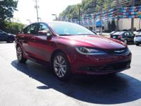 2015 Chrysler 200 S New Price! CARFAX One-Owner. Clean