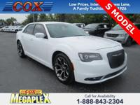 This 2015 Chrysler 300 S in Bright White Clearcoat is