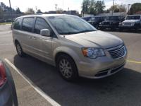 Clean CARFAX. Tan 2015 Chrysler Town & Country Touring