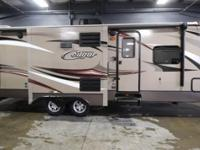 A travel trailer that has two slides, the 2015 Keystone