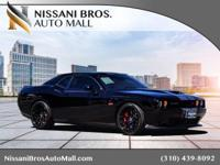 Clean CARFAX. Black 2015 Dodge Challenger SRT RWD SRT