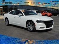 CARFAX One-Owner. 2015 Dodge Charger R/T black Leather.