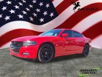 Clean CARFAX. Candy Red 2015 Dodge Charger RT RWD