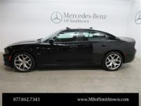 Clean CARFAX. 2015 Dodge Charger R/T Black RWD 8-Speed