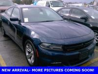 CARFAX One-Owner. Blue 2015 Dodge Charger SXT RWD