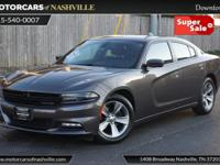 This 2015 Dodge Charger 4dr 4dr Sedan SXT RWD features