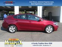 This 2015 Dodge Dart SXT in Maroon is well equipped