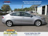 This 2015 Dodge Dart SXT in Silver is well equipped
